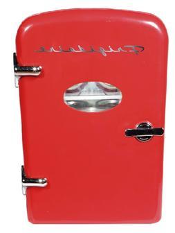 portable retro design 6 can mini fridge