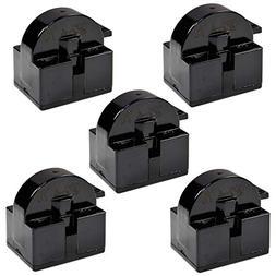 HQRP 5-Pack QP2-4.7 4.7 Ohm 1-Pin PTC Starter/Start Relay Re