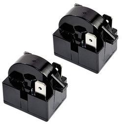 HQRP 2-Pack QP2-4R7 4.7 Ohm 3-Pin PTC Starter/Start Relay Re