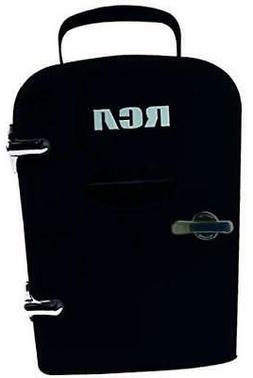 RCA Mini Retro 6 Can Beverage Refrigerator-Black, RMIS129-BL