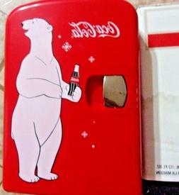 Red Coca Cola Polar Bear Coke Mini Fridge Compact Personal R