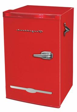 Red Mini Fridge Retro 3.2 cu ft Home Living Dorm Compact Ref