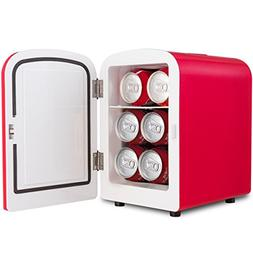 Red Portable Mini Fridge Cooler Warmer Heats 4L Auto Car Boa