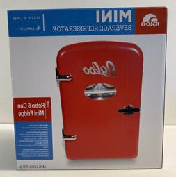 Igloo - Red Retro Mini Beverage Fridge - Holds 6 Cans - Home
