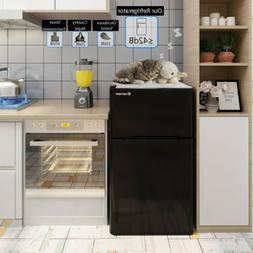 Refrigerator Small Compact Black Refrigerators With Freezer