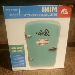 Igloo Retro 6 Can Turquoise Blue Mini Fridge Compact Portabl