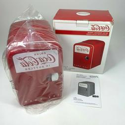 Retro Coca-Cola Personal 6 Can Mini Fridge Refrigerator Red