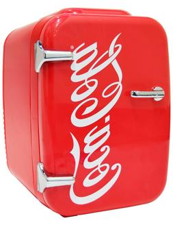 Cooluli Retro Coca-Cola Portable 4 Liter Mini Fridge Cooler