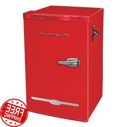 Retro Mini Fridge 3.2 Cu Ft Compact Refrigerators Small Free