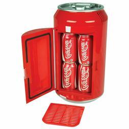 Retro Portable Mini Fridge 8 can, Red Classic Look Home, Off