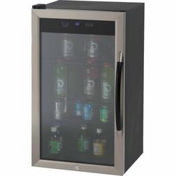 Avanti BCA306SSIS Beverage Cooler 3.1CF Glass Door BK/SR