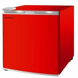Small Red Compact Mini Fridge Portable Tabletop 1.6 Cu Ft Re