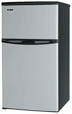mini fridge refrigerator stainless steel freezer two door do