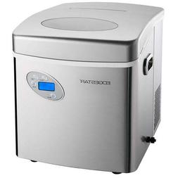 Large 50 Lb Stainless Steel Countertop Ice Maker, Compact Cu