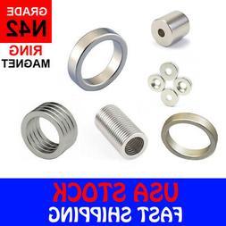 Super Strong N42 Ring Disc Column Neodymium Mini Fridge Magn