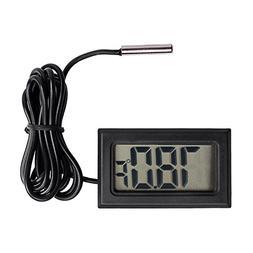 Qooltek Digital LCD Thermometer Temperature Gauge Aquarium T