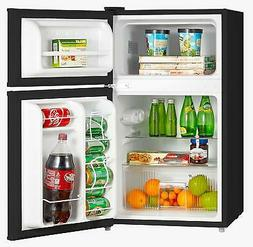 Midea WHD-113FB1 Double Door Mini Fridge with Freezer for Be
