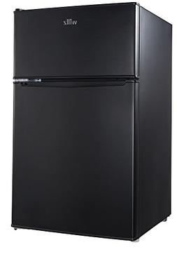Willz WL31TBK 3.1 cu.ft. Refrigerator Dual Door True Freezer